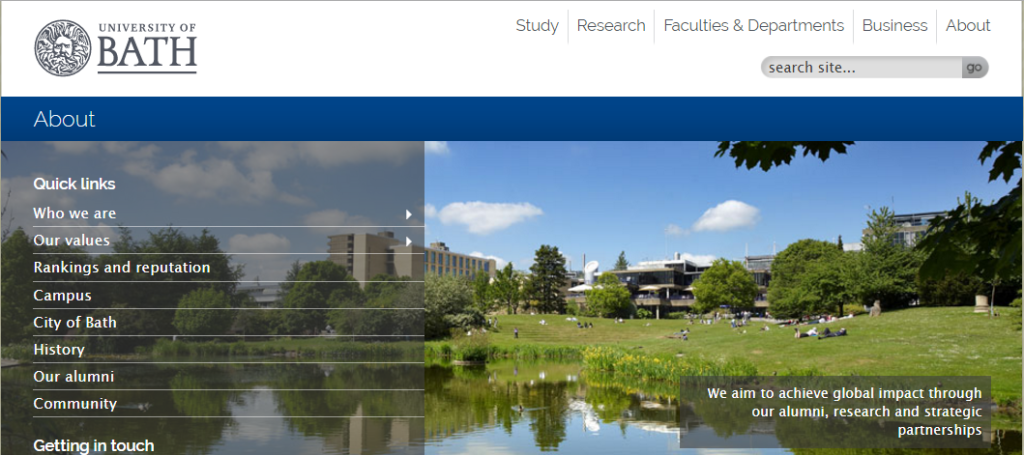 Bath сайт университета