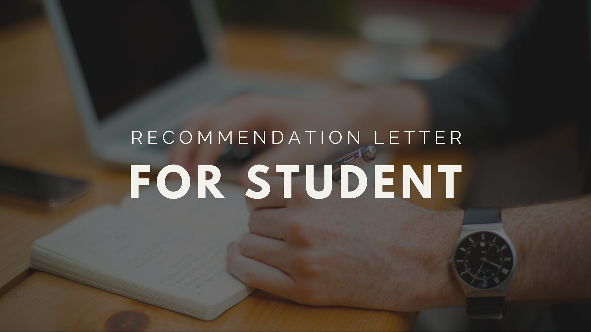 Как написать рекомендательное письмо для студента?